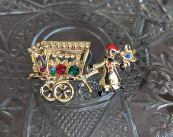 Rare Trembler Flower Cart Pin