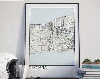 Niagara, Ontario Minimalist City Map Print