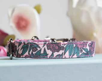 """Dog Collar and Leash Set """"Floral"""""""