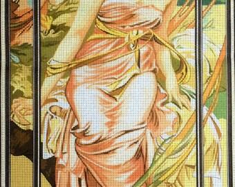 "Gobelin Tapestry Needlepoint Kit ""Mucha-Morning Awakening"" printed canvas 331"