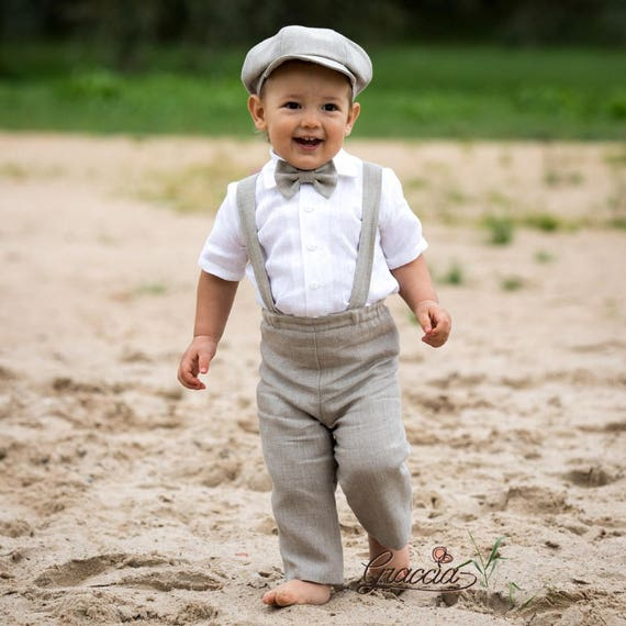 Baby boy wedding suit Ring bearer newsboy outfit Baby boy