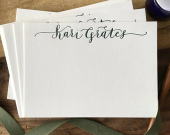Personalized Calligraphy Letterpress Stationary
