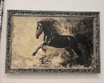 Рicture, canvas, decor, interior, horse