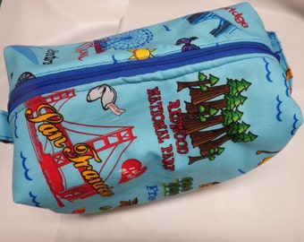 California Dreaming, Large Ditty Bag, Travel Pouch, Shave Kit, Makeup Bag, Dopp Kit, Toiletry Bag, Pencil Case, Wet Sack