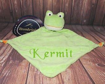 Personalised Frog Baby Blankie, Cubbies comforter, New Baby Gift, Newborn, security blanket, comforter baby boy comforter, baby girl gifts
