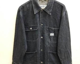 Vintage Guess Jeans USA workwear Trucker Jacket Denim Jeans Asap Rocky Medium