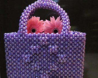 Violet Pearl Purse
