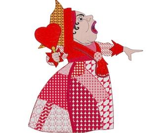 Queen of Hearts - Embroidery Design - Alice in Wonderland - 3x4, 5x7, 7x8