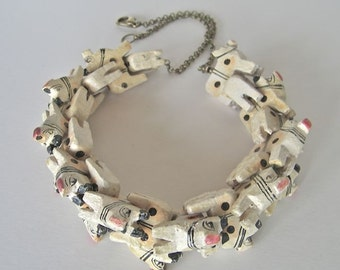 stacked animal necklace - 22 inch