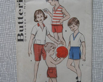 1960s Childs' Shirt & Shorts - Size 6 - Butterick 8992 Sewing Pattern