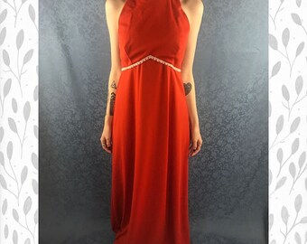 70s Burnt Orange Gown