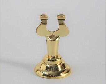 Gold Sign Holder - Table Number Holder - Wedding Table Number Stand - Card Holder - Table Decor - Place Card Holder - H01
