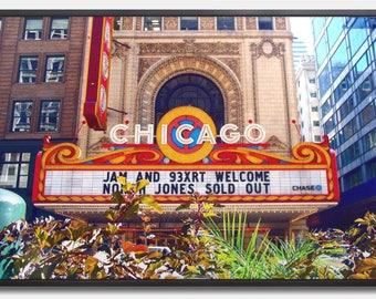 Chicago Theatre - Canvas Print
