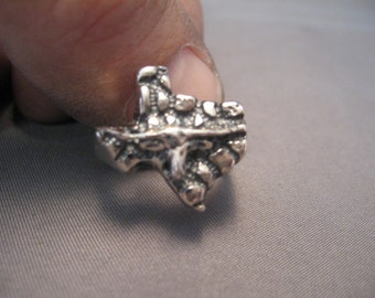 Texas Longhorn Nugget Ring