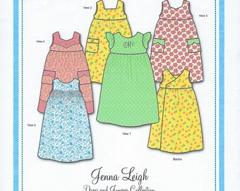 Bonnie Blue Pattern #142 / JENNA LEIGH / Sizes 12 mo - 10 yr