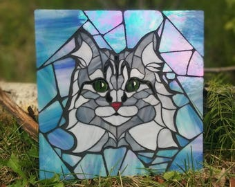 Personalized Pet Glass Art Mosaic Made-To-Order
