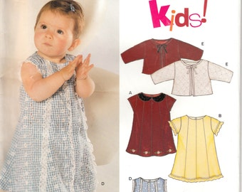 One dollar SALE New Look 6330 Pattern for babies's dress and jacket, uncut