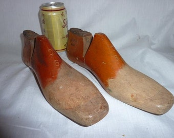 Vintage Pair of Shoemaker's Forms Old Wooden