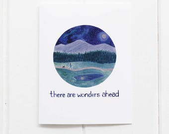 Congratulations Card / Encouragement Card / Greeting Card / Nature Card / Hiking Card / Hiking Gifts / Pacific Northwest / Gifts for her