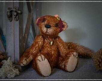 Becky, OOAK artist bear - girl - cute gift