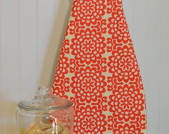 Designer Ironing Board Cover - Amy Butler Lotus Wall Flower Cherry