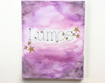 Lumos - Watercolor on Canvas