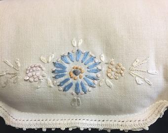 Vintage Linen Decorative Pillow