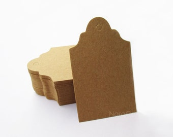 Kraft Tag, Brown Gift Tag, Kraft Favor Tag, Small Kraft Earring Card Set of 100