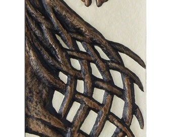 Friesian - Cast Paper - Show Horse - Horse - Irish art - Celtic art - Pony - Epona - Rhiannon - Equestrian