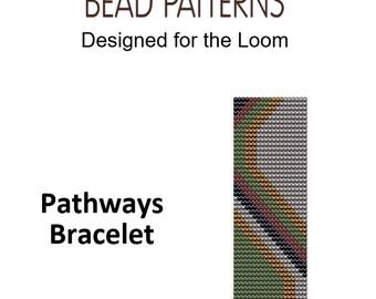 Pathways Bracelet, Loom Bead Weaving, Instant Download