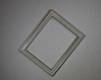 11x14 Frame Blue Grey Wood with Optional Glass and Matting Complete Kit