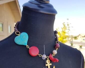 Small Stone Necklace, Anchor Necklace, Gold Anchor Necklace
