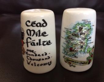 Set of Ireland salt n pepper shakers