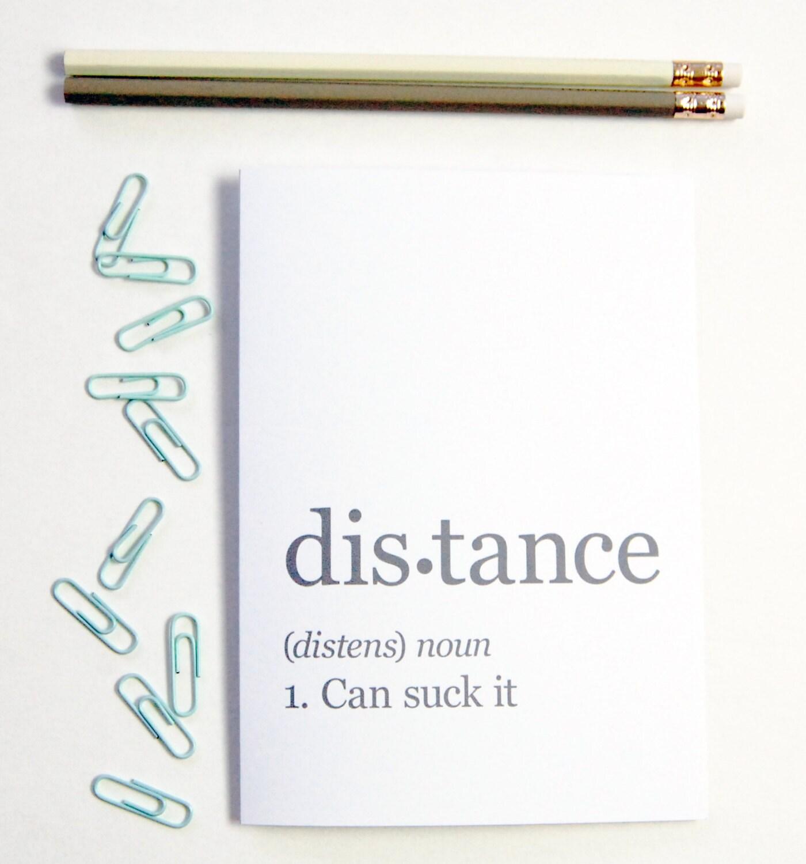 Distance Definition Greeting Card long distance boyfriend