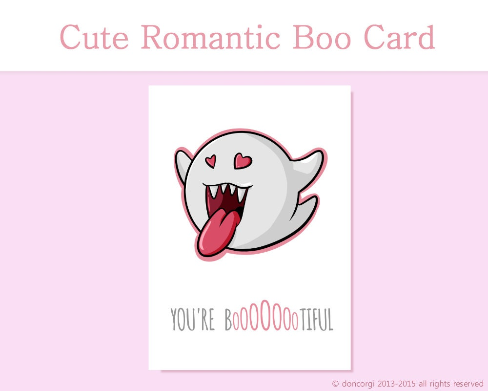 Romantic Mario Card Youre Bootiful Printable Card