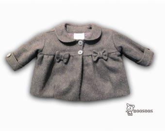 Baby Girl Gray Coat