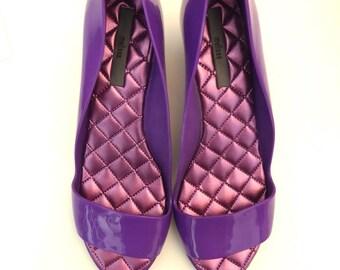 Vintage Melissa  Court Shoes, Peep Toe Sandals, 90s Pumps