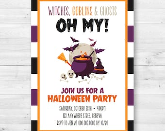 Witches, Goblins & Ghosts - Oh my! Halloween Party Invitation