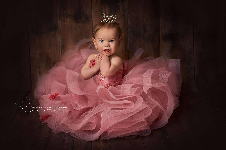 Erster Geburtstag Krone neugeborenen Baby Mädchen Krone