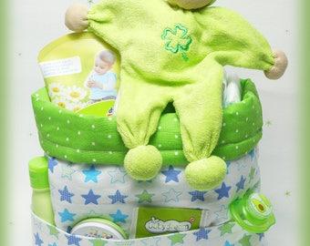 Filled Utensilo gift for birth baptism baby shower