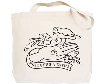 Princess Status - Canvas Everyday Tote