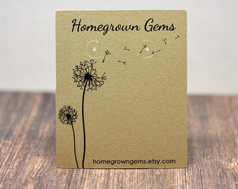 Dandelion Earring Cards - Customize - Necklace Cards - Packaging - Jewelry Tags - Floral - Flower - Price Tags