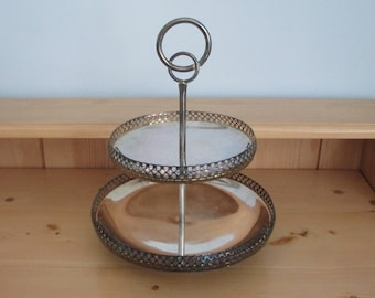 Silver Plated Cake and Cookie Stand