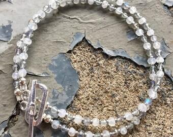 Moonstone and Labradorite Bracelet