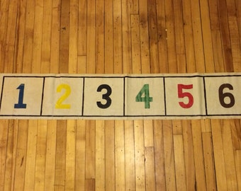 Vintage '30s Carnival Game Sign with Numbers