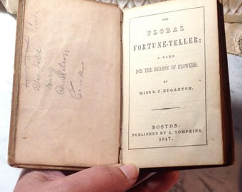 The Floral Fortune Teller - 1847 Victorian Book of five questions answered