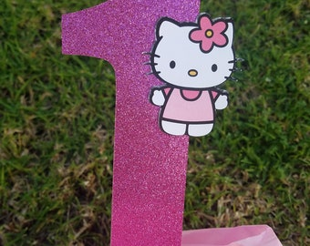 Hello kitty party, Hello Kitty birthday, Hello Kitty decoration cake topper