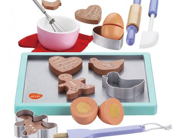 My Wooden Baking Cookie Set with wooden play food  (Age: 36 Months+)