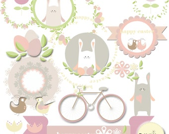 21 easter clipart elements