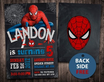 Spiderman invitation etsy spiderman invitation spiderman birthday filmwisefo